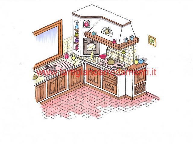 progettare una cucina in muratura. progetto esecutivo cucina ...