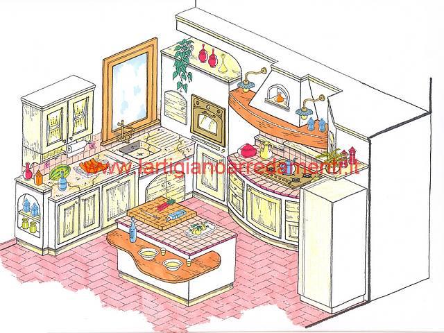 Progetti cucine in muratura Pag. 1