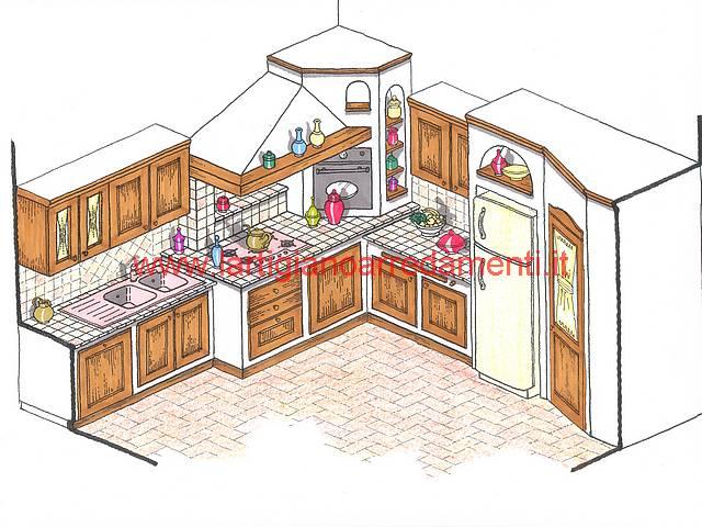 Cucina Cucina Muratura Progetto