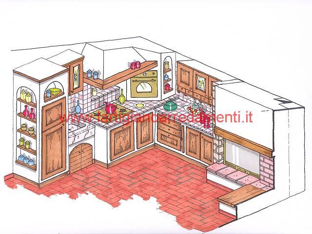 Progetti Cucine In Muratura Rustiche. Latest Progetto Cucina ...