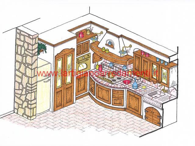 Progetti cucine in muratura Pag. 2
