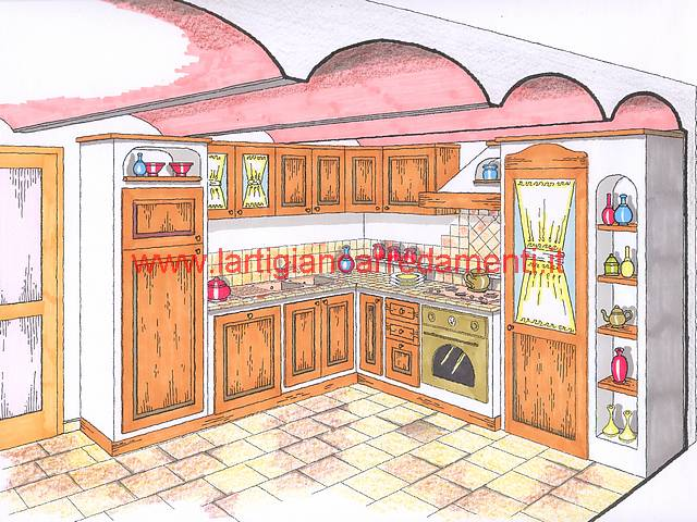 prevnext. la cucina in muratura realizzata su misura e si ...